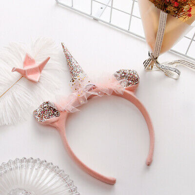 1pc Hair Band Plush Ears Unicorn Lovely Headdress Hair Hoop Hair Clasp for Party