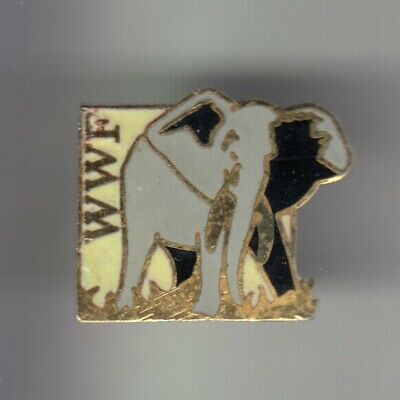 Rare Pins Pin's .. Animal Elephant Elefant Wwf Ong Protection Nature Faune ~Cy