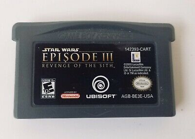 STAR WARS EPISODE III REVENGE OF THE SITH Game Boy Advance 2005 GBA SP DS DSL