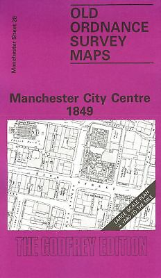 Old Ordnance Survey Map Manchester City Centre 1849