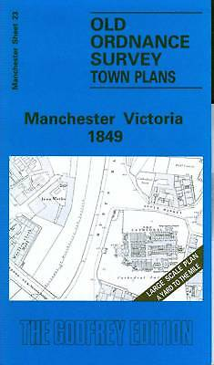 Old Ordnance Survey Map Manchester Victoria 1849