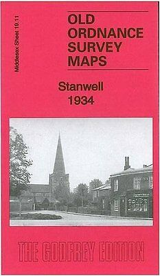 Old Ordnance Survey Map Stanwell 1934