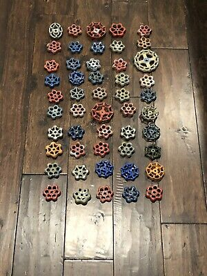 Vintage Valve Handles Lot Of 50  Industrial Art Water Faucet Knobs