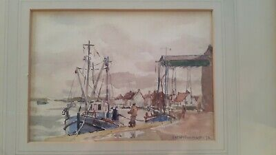 Aline Mary Williamson ( 1906 - 1987 ) - Wells-Next -The-Sea Watercolour 1972