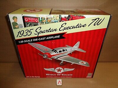 #21 Wings of Texaco 2013 Spartan Executive 1935 7W Airplane CP7078 MIB NEW A