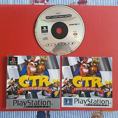 Crash Team Racing PS1 Playstation CTR - Disc, Manual and Front Inlay only. Works