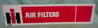 "Vintage IHC International Harvester Cardboard Sign Air Filters 32 ½"" by 7 3/8"""