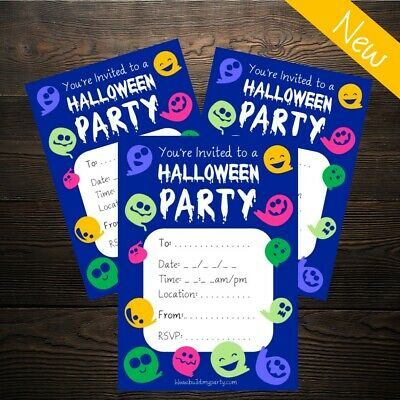 Halloween Invitations (Invites) - Kids Party - 10 Pack - Costume Decoration Prop