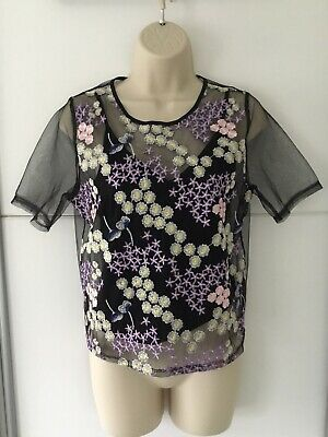 Girls Pretty Embroidered Top Age 12-13 Years 915 New Look Bnwt