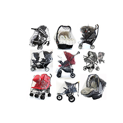 Raincover Baby Carseat/Pushchair Toddler Buggy Stroller Pram Transparent Cover