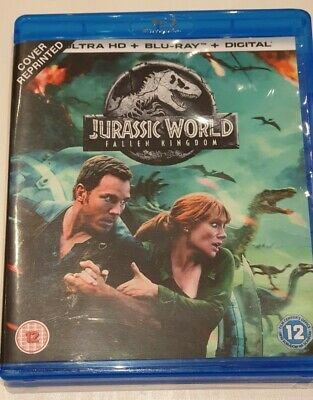 Jurassic World Fallen Kingdom Blu-Ray from 4K Set Used Good Condition