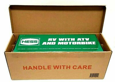 2018 HESS Toy Truck - RV with ATV and Motorbike - NEW FACTORY SEALED BOX!