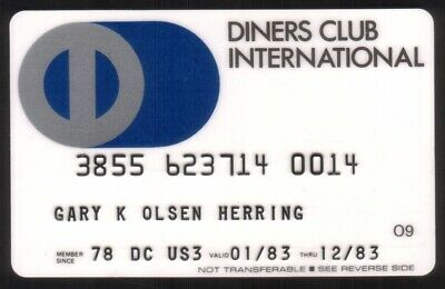 Diners Club International Credit Card Exp 12/83