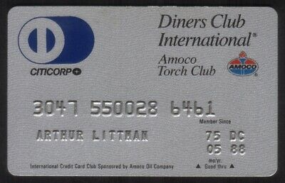 Diners Club International & Amoco Torch Club Credit Card Exp 05/88 (Citicorp)