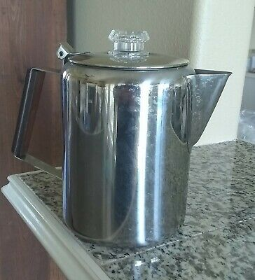 Stainless Steel Coffee Pot 9 cup Percolator Stove Top