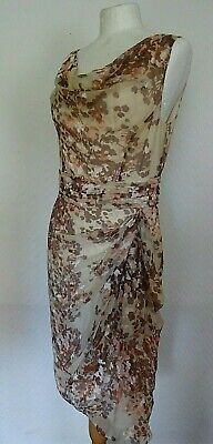 PHASE EIGHT FLORAL DRESS UK 12  Silk blend  BNWT! Tag £140 - 99p SALE LQQK ....