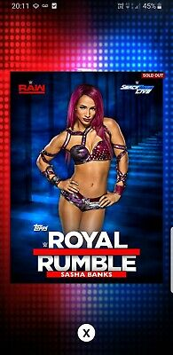 Topps WWE Slam Digital card 420cc Sasha Banks Royal Rumble 2016