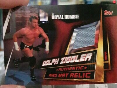 Topps WWE Slam Attax Universe Ziggler RR Ring Mat Canvas Relic 2019 Memorabilia