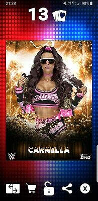 Topps WWE Slam Digital card 349cc Carmella Foundry award