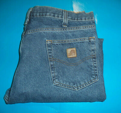 Relaxed Fit 36X28 344-20 VG Condition Carhartt FR Navy Blue Cargo Pants