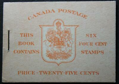 Canada #BK36f Booklet, MNH OG, Type 2a English, Surcharged Rate Page