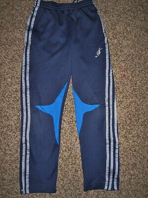 ADIDAS Boys Athletic Soccer Warm Up Pants Navy/Gray Size Small 10 Rare