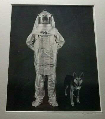 """Original Photograph """"OLIVARES in Approach Suit with Dog"""" Signed leni Newman 1979"""