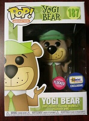 Funko Pop! Animation Flocked Yogi Bear Gemini Collectibles Exclusive #187