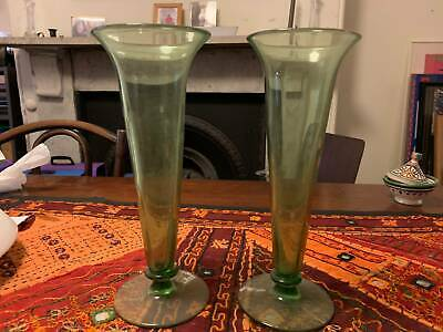 Mid 20th Century Green Glass Vase (pair)