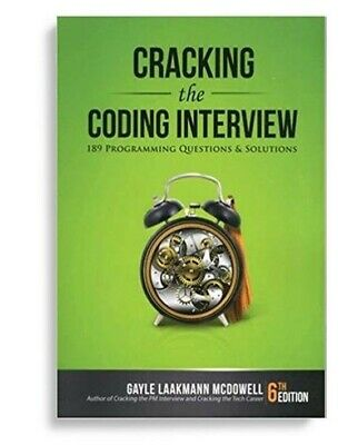 Cracking the Coding Interview 189 Programming Questions 6th Edition FREE SHIP