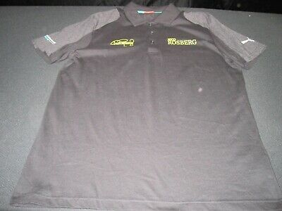 Puma Nico Rosberg Mercedes-Benz AMG Petronas F1 Racing Polo Shirt Men Large~6944