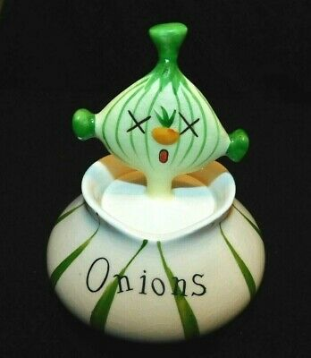 "Holt Howard Pixieware ""Onions"" , Original Label Attached, Vg Cond"