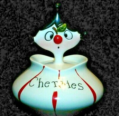 "Holt Howard Pixieware ""Cherries"" , Original Label Attached, Vg Cond"