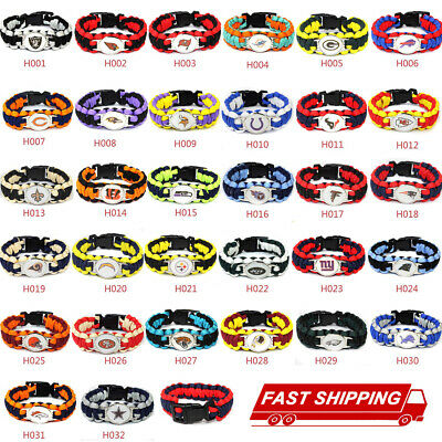 Rope Wristband Bracelets Bracelet Football NFL US Team Umbrella-Pick Team Gift