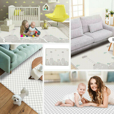 Baby Play Mat Large Double Sides Non-Slip Waterproof Portable For Playroom