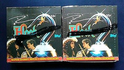 1991 Topps ~ Hook The Movie Trading Cards Boxes ~ 2 Box Lot ~ Robin Williams