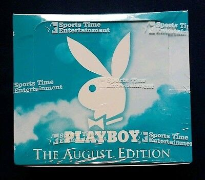 1997 Sports Time Inc Playboy August Edition Trading Cards Factory Sealed Box