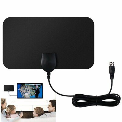 10ft Cable Home 1080P Digital HDTV Antenna Indoor Flat TV Antennas Shows