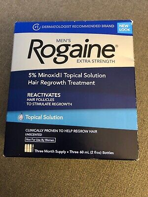 New Men's Rogaine 3 Month Supply Topical Solution Exp:01/2021+