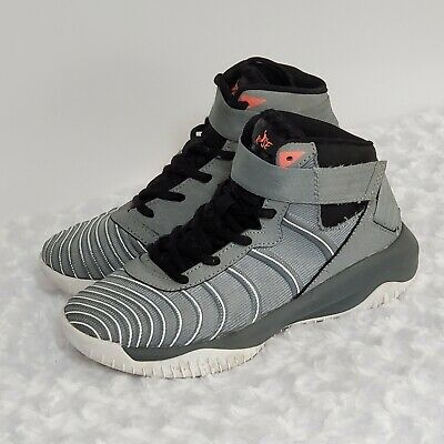 AND1 Youth Boys Assist High Top Sneakers Silver Grey Basketball Shoes NWT