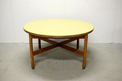 Jens Risom Large Round Mid Century Kids Circular Crafts or Coffee Table