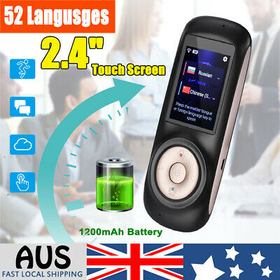 52 Languages Pocket Smart Translator WiFi Instant Voice Translation Travel AU