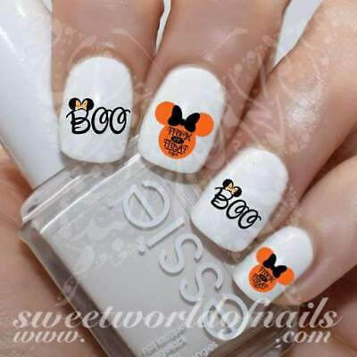 Halloween Disney Nails Minnie Mouse Boo Water Decals