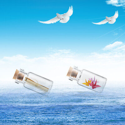 Vials Glass Bottle Transparent Message Bottles With Cork Stopper Tiny Small