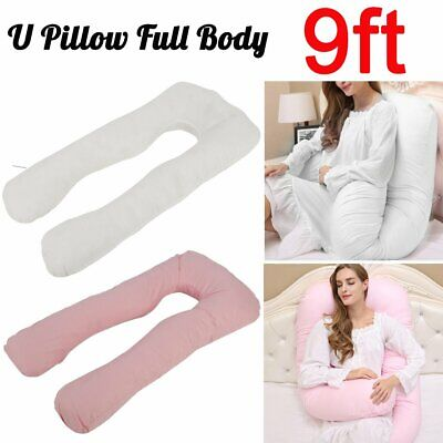 9ft Full Body Pillow and/or Cover Case U Shape Maternity Pregnancy MT