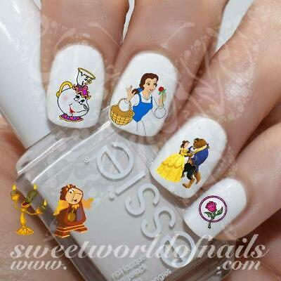 Beauty and The Beast Nail Art Belle Beast Nail Water Decals Slides