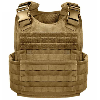 Tactical Vest COYOTE Tan Condor Plate Carrier BODY ARMOR Military*FREE SHIPPING*