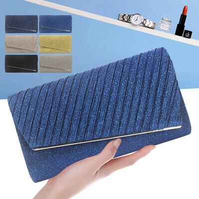 Quality Women Glitter Charming Evening Clutch Prom Party Handbag Crossbody Bag