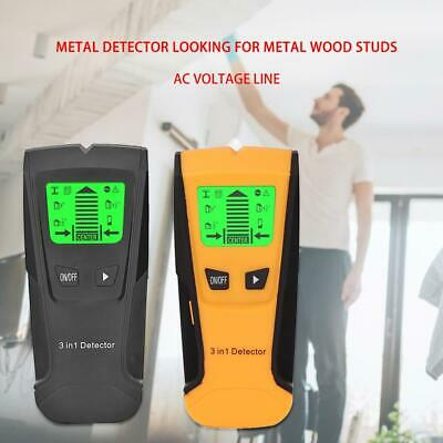 LCD Digital Wall Detector Metal Wood Studs Live Wire Finder AC Cable Scanner