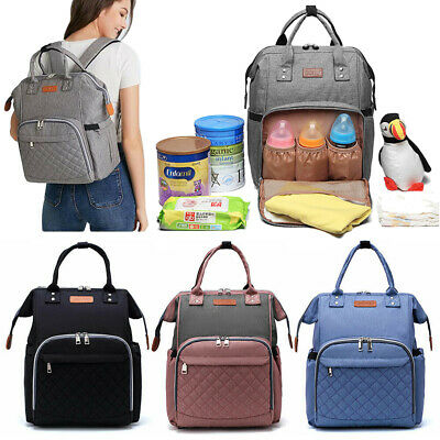 Baby Diaper Nappy Changing Mummy Bags Large Rucksack Hospital Maternity Backpack